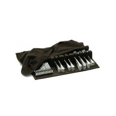 BROWN SILVER CLOTH FLATWARE HOLDER - DRAWER LINER PAD- BROWN SILVER CLOTH (Cutlery Drawer Tray With Cover compare prices)
