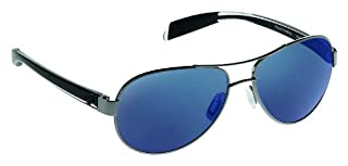 Native Eyewear Haskill Polarized Sunglass, Gunmetal and Crystal Frame/Blue Reflex Lens