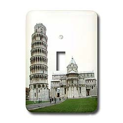 Vacation Spots - Tower Of Pisa Italy - Light Switch Covers - single toggle switch