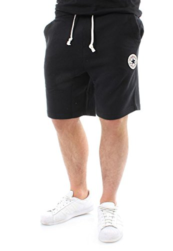 Converse Uomo Left Logo Sweat Shorts, Nero, X-Large