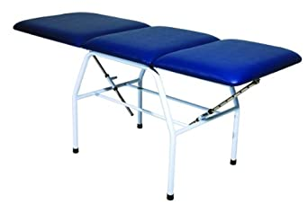 """3B Scientific W15051DB Dark Blue Carbon Steel Bi-Lateral Adjustment Treatment Table, 71.5"""" Length x 25.5"""" Width x 32.5"""" Height"""