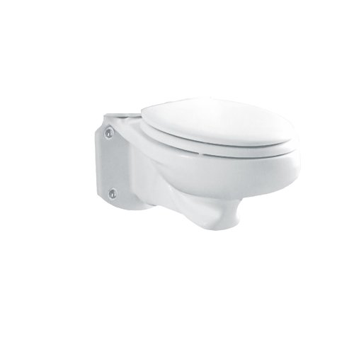 American Standard 3402.016.020 Glenwall Pressure-Assisted Wall-Mounted Elongated Toilet (Bowl Only), White