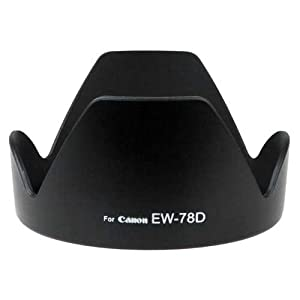 Fotodiox Dedicated (Bayonet) Lens Hood, for Canon EOS EF-S 18-200mm f/3.5-5.6 IS / EF 28-200mm f/3.5-5.6 (replaces Canon EW-78D)