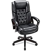 Realspace High-Back Bonded Leather Chair