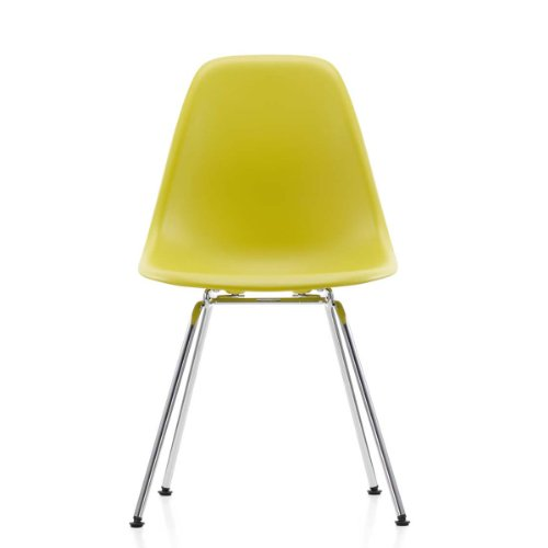Vitra 440024000234 Eames - Silla (pl�stico y cromo, 810 x 465 x 550 mm), color amarillo