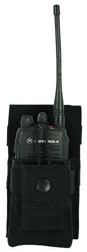 Specter Gear Belt Mounted Universal Radio Pouch, Medium, Black front-849570