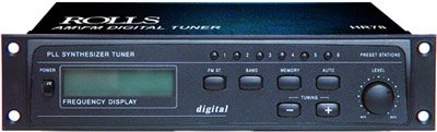 Rolls Hr78 Am Fm Tuner 18 Presets, Large Lcd Digital Display, Rca And 1/8 Inch Outputs