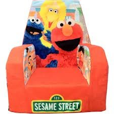 Marshmallow Fun Furniture High Back Chair, Sesame Street from Marshmallow Fun