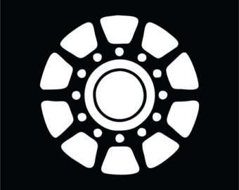 Iron Man Arc Reactor Vinyl Decal Sticker|Cars Trucks Vans Walls Laptops|WHITE|5 In|KCD600 (Iron Man 2 Ps3 compare prices)