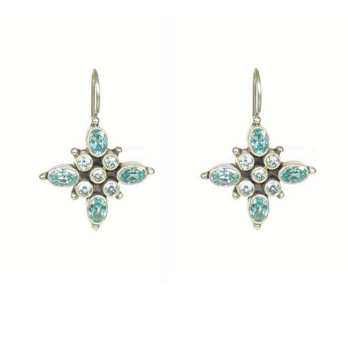 Franki Baker Aquamarine Blue CZ & Silver Earrings