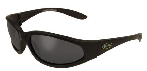 5c14fec4cff BlueWater Polarized Blackfin Line Sunglasses Matte Black Frame Smoke Lens  Small