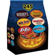 Hershey's Halloween Trick or Treat Candy Bag 245 Pieces (Milk Chocolate, Milk Duds, Kit Kat, Reese's Whoppers & Almond Joy), 92.7 oz.