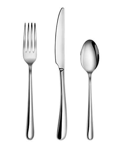 Artaste 56518 Rain II Forged 18/10 Stainless Steel Flatware 36-Piece Set, Service for 12 (Forged Stainless Steel Flatware compare prices)