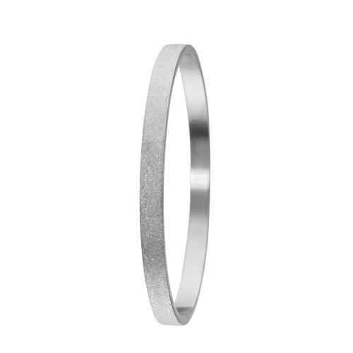 Skagen Designs Silver Tone Glitter Stainless Steel Bangle JGSS002SM