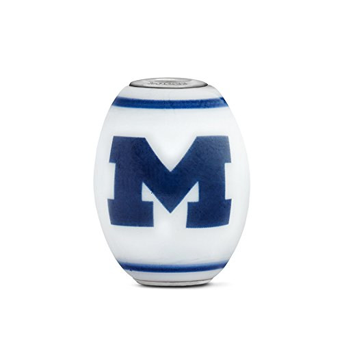 Michigan Wolverines Large Glass Bead Fits Most European Style Bracelets