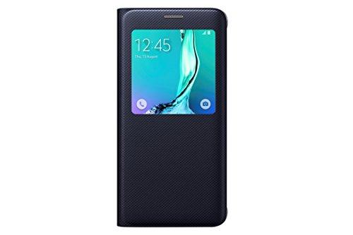 Samsung Galaxy S6 edge plus Case S-View Flip Cover Folio - Black Sapphire (Samsung Flip Phone Clip compare prices)