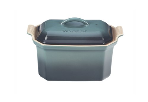 Le Creuset Heritage Stoneware 3/4-Quart Pate Terrine with Press, Fennel