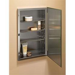 "Broan 230P26SS Basic Styleline Single-Door Surface Mount Cabinet 16"" W x 26"" H"