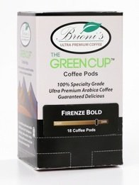 Green Cup Coffee Pods - 18 Pack - Brioni's Blend