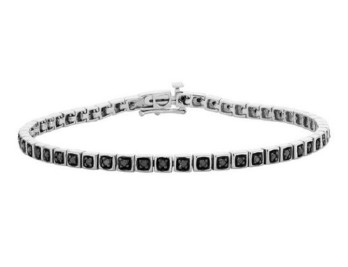 Black Diamond Bracelet 1/2 Carat (ctw) in Sterling