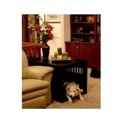 Marvelous Dynamic Accents Medium End Table Crate Finish Mahogany
