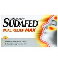 Sudafed Dual Relief Max Decongestant Tablets 12