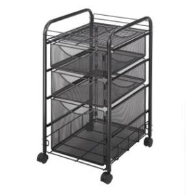 Rolling Cart Mesh File Folder Drawer Storage Office