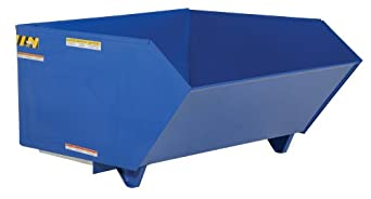 "Vestil H-100-MD Low Profile Medium Duty 90 Degree Self-Dumping Hopper, Steel, 49"" Width, 28"" Height, 51-1/4"" Depth, 4000 lbs Capacity"