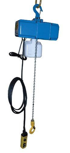 Vestil Vs-Ech Variable Speed Electric Chain Hoist, Single Phase, Hook Mount, 250 Lbs Capacity, 13' Lift, 49 Fpm Max Lift Speed, 115V