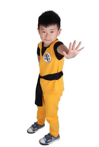 [龙球 ◆ 龙球样式][儿子小悟空天空风] 角色扮演服饰的孩子孩子服装化装高度 105-115 厘米自适应动画的线