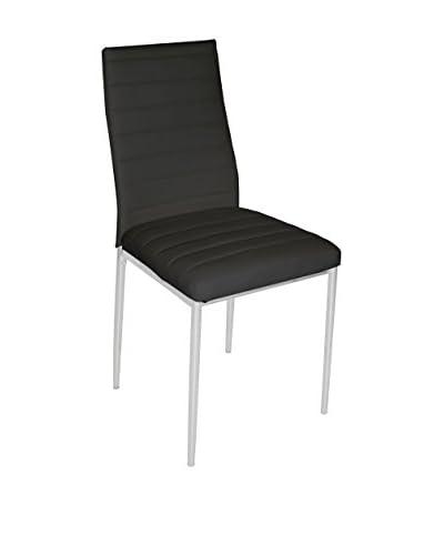 Basis Thuis Chair 4 stuks . Set Edera B5 zwart