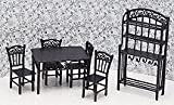 Dollhouse Miniature 1/24 Scale 6-Pc. Seagrove Dining Set