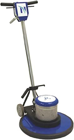 "NaceCare NA17SS Heavy Duty Steel Single Speed Floor Machine, 17"" Brush, 175 rpm, 4 Gallon Capacity, 1.5HP, 50' Power Cord Length"
