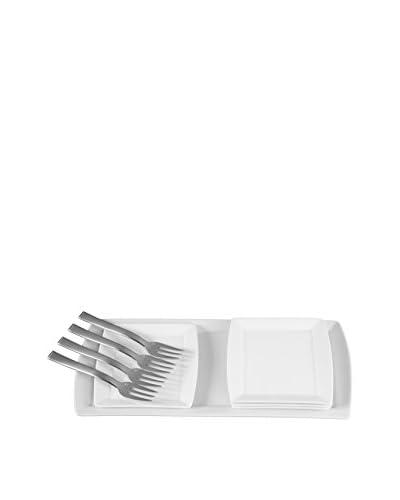 Fortessa 9-Piece Tavola Appetizer Serving Set, White