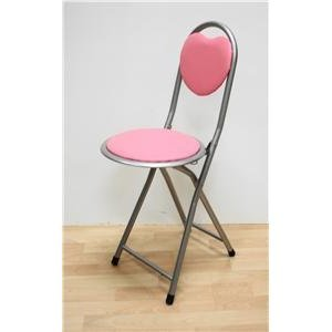 KIDS TUBULAR FOLDING CHAIR WITH SECURITY LOCK PINK