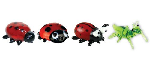 Looking Glass Miniature Collectible - Ladybug / Grasshopper (4-Pack)