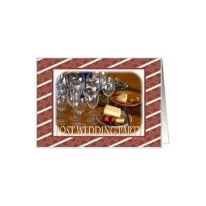 Wedding Party Wine Glasses on Amazon Com  Post Wedding Party Wine Glasses Cheese Strawberries Card