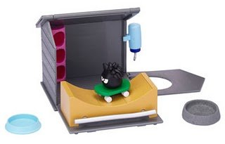 Disney Club Penguin Puffle World Playset Skate Park with Black Puffle 1 Inch Mini Figure Includes Coin with Code!