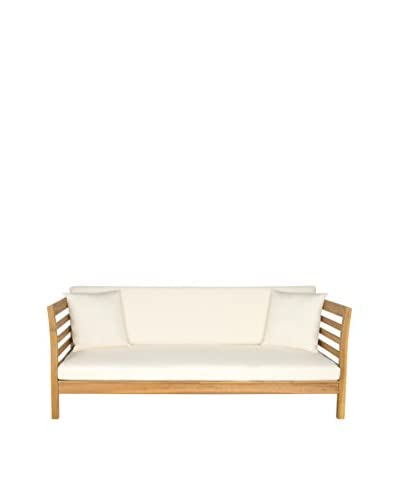 Safavieh Malibu Day Bed, Teak/Beige