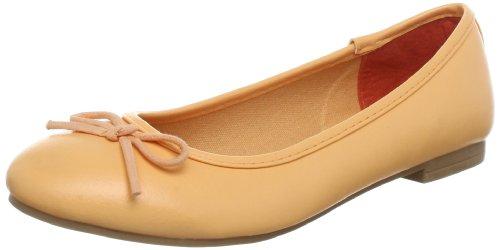 Jane Klain 221 758 Ballet Flats Womens Red Rot (apricot 583) Size: 4 (37 EU)