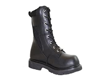 Ad Tec Mens 10 Paramilitary Swat Boot, Black Leather with Cordura Upper. 1447 by Adtec