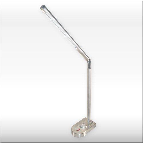Tischleuchte 'DELUXE' mit 21 LED's – Elegante, flexible Schreibtischbeleuchtung aus gebürstetem Edelstahl!
