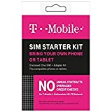 T-Mobile Complete SIM Starter Kit - No Contract Network Connection (Universal: Standard, Mirco, Nano SIM)