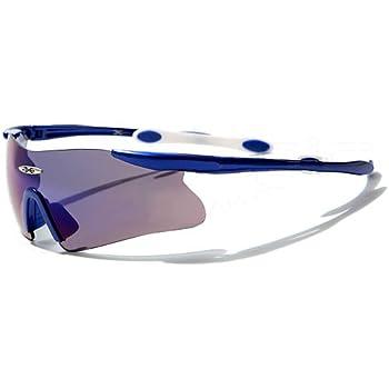 X-Loop Lunettes de Soleil - Sport - Cyclisme - Ski / Mod. 3555 Bleu / Taille Unique Adulte / Protection 100% UV400