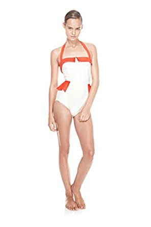 Marc by Marc Jacobs Color Block Peplum One Piece Maillot (S): Clothing