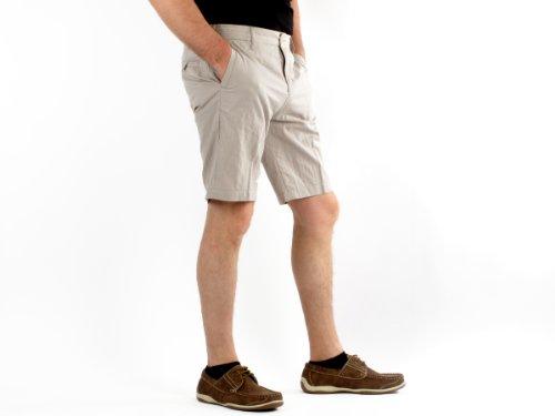 Antik Kustom E09_11096 Straight Beige Man Shorts Men - 40