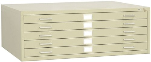 Safco 5-Drawer Steel Flat File for 30x42 Inch Documents 4996
