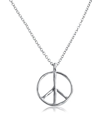 Belcho NB1699S Small Peace Symbol Pendant Necklace