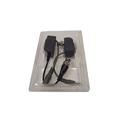 10 Pairs (20 Pcs) CCTV Video Power Balun BNC to Cat5 Cat6 UTP RG45 Data Cable for Home or Office CCTV Security Surveillance Camera & DVR System Systems