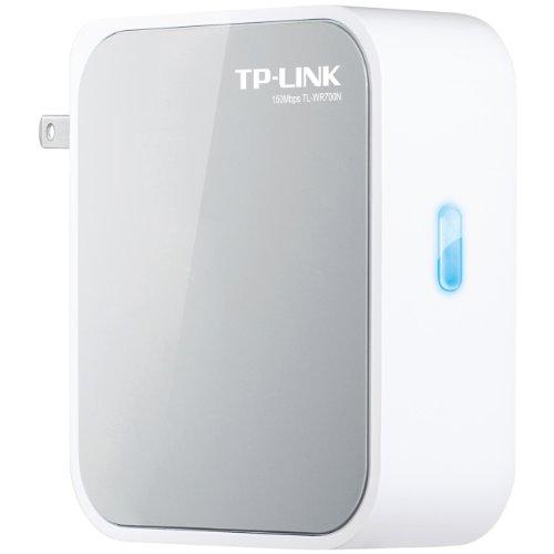 有線から無線LAN変換アダプター 出張に便利な電源一体型小型無線WiFiアクセスルーター iPhone,iPad,Android,PC,DS,PSP全て簡単に接続 TP-LINK TL-WR700N
